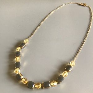 ✨KATE SPADE Charcoal Stone & Gold Necklace